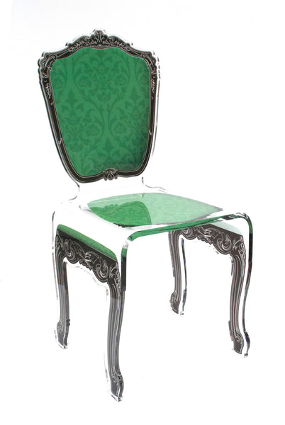 Baroque Chair - Dark Green
