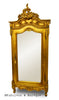 Christelle Single Door Mirrored Wardrobe - Gold Leaf