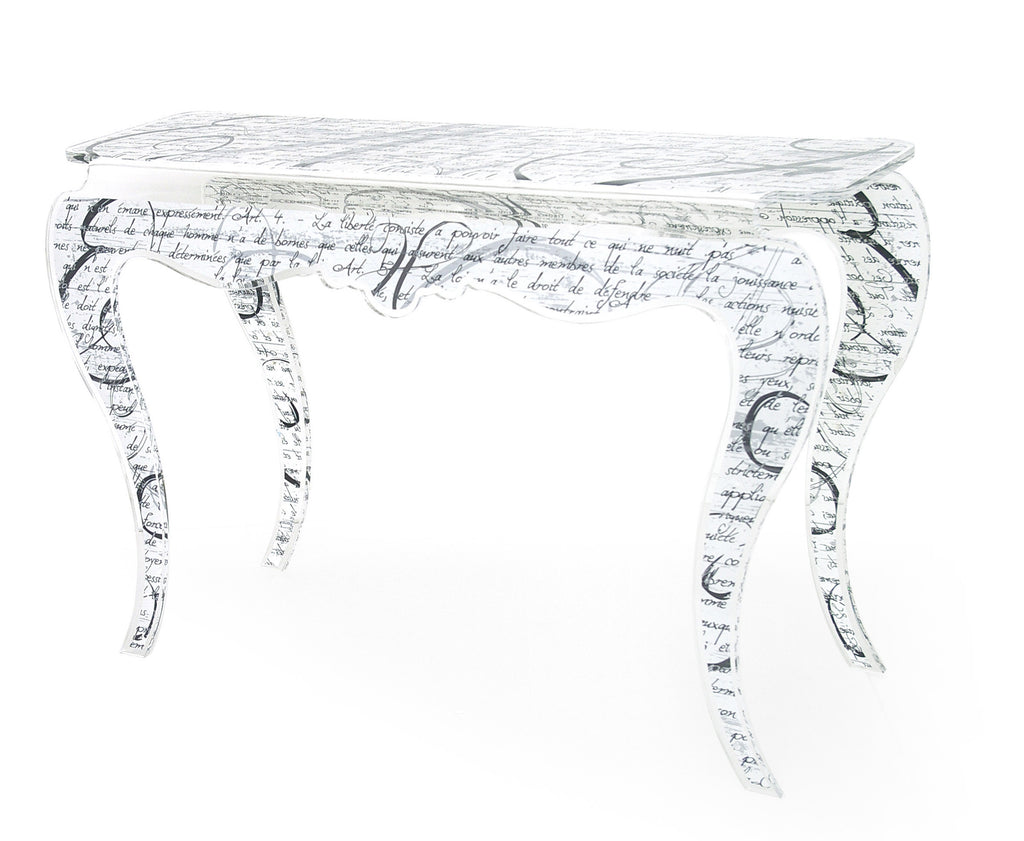 Opera Console Table - Handwriting Black