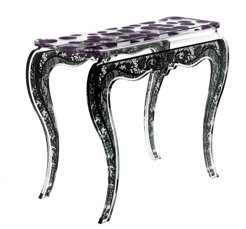 Eman Console Table - Purple