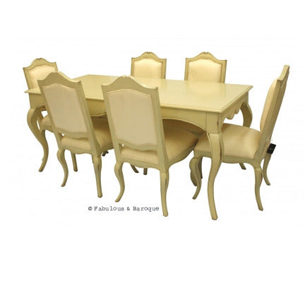 Moulin Rouge 6 Chair Dining Set - Ivory
