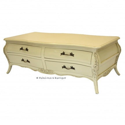 Bordeaux 8 Drawer Coffee Table - Ivory