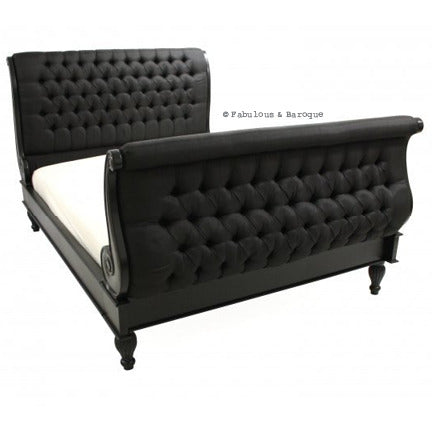 Madame Royale Tufted Bed - Black