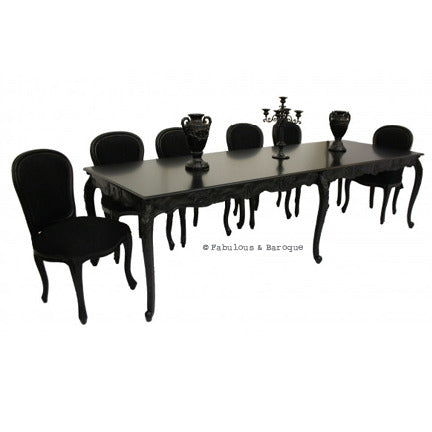 Versailles 10ft Dining Table - Black
