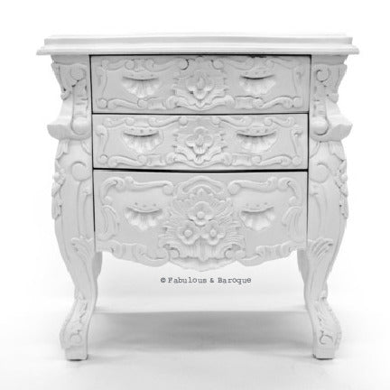 Fabulous & Rococo Side Table - White Lacquer