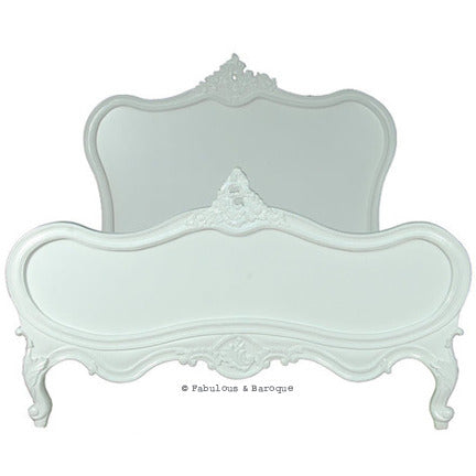 Sabine Shabby Chic French Bed - White