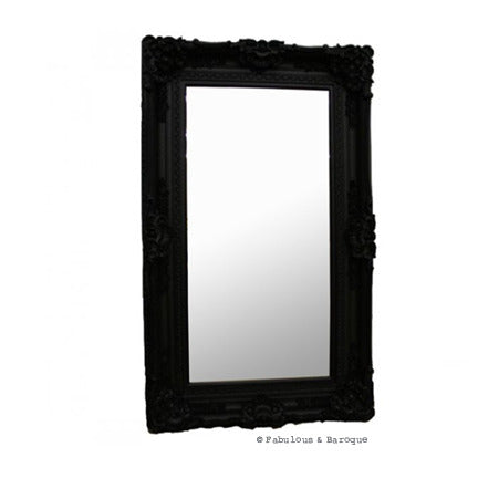 Grand Beau Wall Mirror 5ft x 3ft- Black