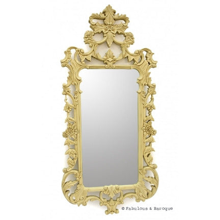 Pétale French Leaf Mirror - Ivory