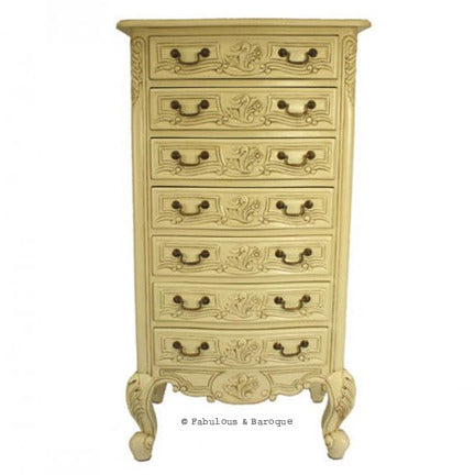 Frederique 7 Drawer Accessory Chest- Ivory
