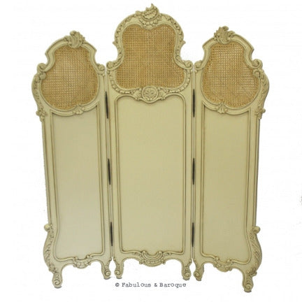 Gwenevere Dressing Screen- Ivory