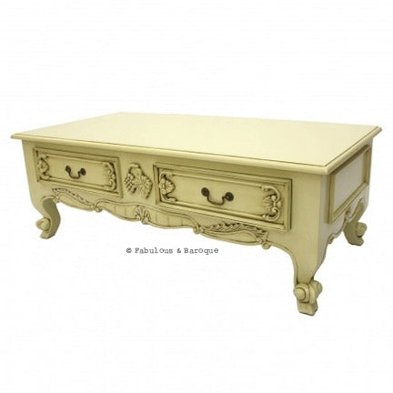 Elsa 4 Drawer French Coffee Table - Ivory