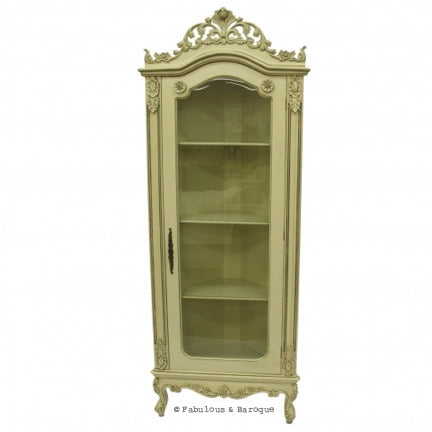 Helene French Corner Display Cabinet - Ivory