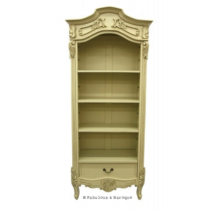 Brigitte French Open Bookcase - Ivory