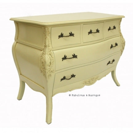 Bordeaux Bombay 5 Drawer Chest - Ivory
