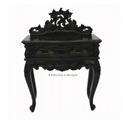Royal Fortune Montespan Side Table - Black
