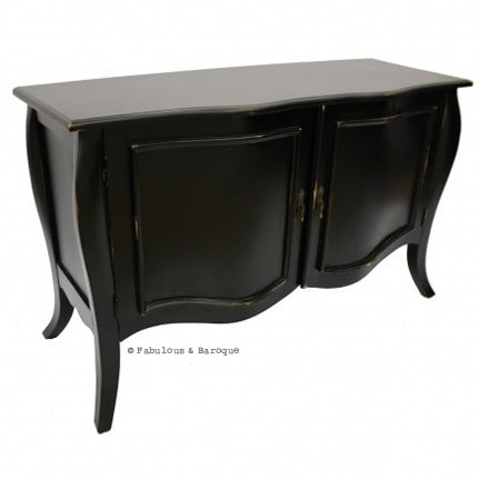 Estelle French Sideboard - Black & Hot Pink