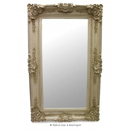 Grand Beau Wall Mirror 5ft x 3ft- Ivory