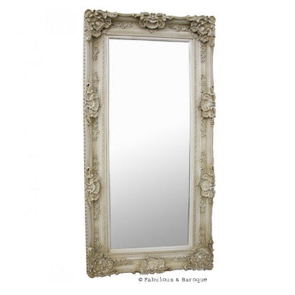 Grand Beau Wall Mirror 6ft x 3ft- Ivory