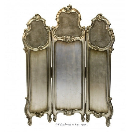 Gwenevere Dressing Screen - Silver Leaf