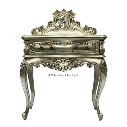 Royal Fortune Montespan Side Table - Silver Leaf