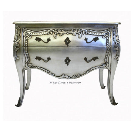 Eloise 2 Drawer Chest - Silver Leaf