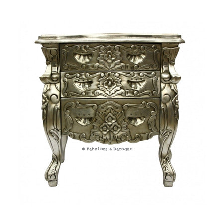 Fabulous & Rococo Side Table - Silver Leaf