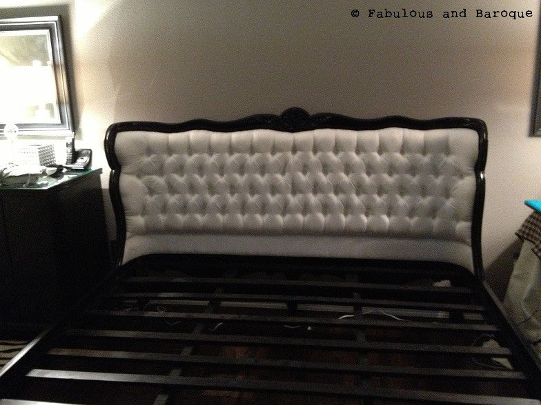 Genevieve Bed - Black & Ivory - Client Photo