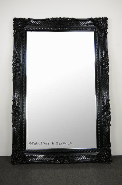 Grand Beau Wall Mirror 6ft x 4ft- Black