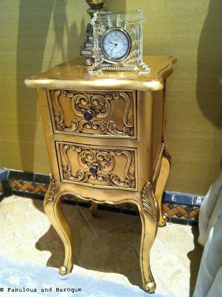 Josephine Petite Side Table - Gold Leaf - Client Photo