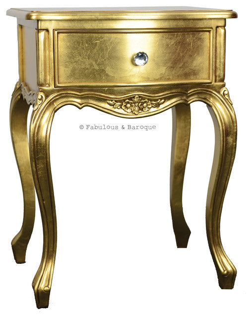Sabine Side Table - Gold Leaf
