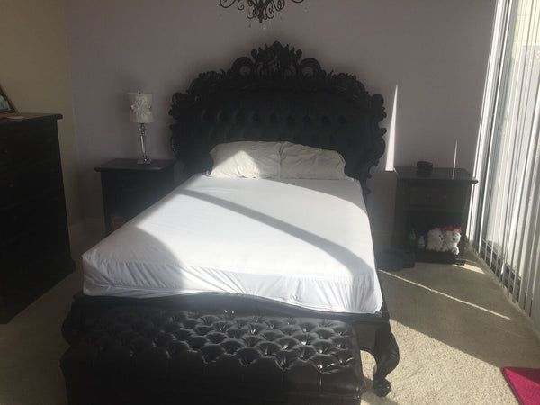 Night's Dream Tufted Bed - Black- CLIENT PHOTO
