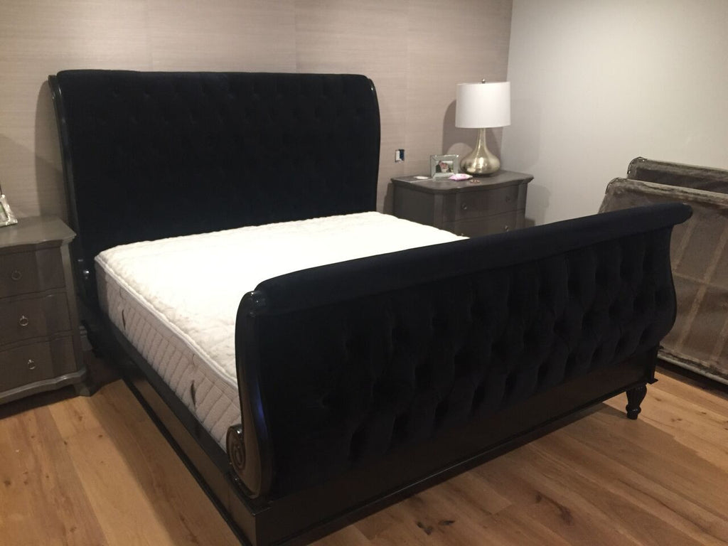 Madame Royale Tufted Bed - Black - CLIENT PHOTO