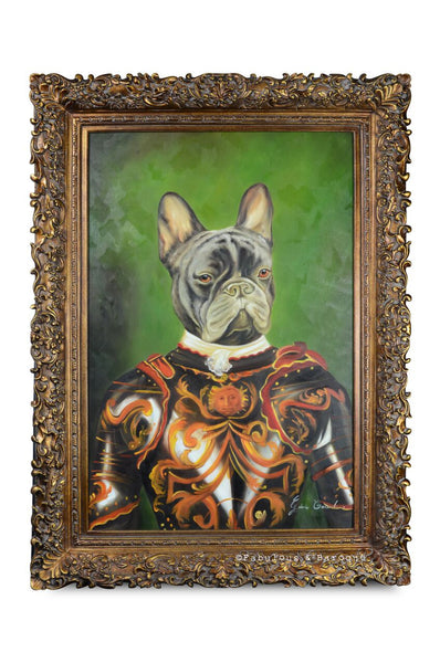 Baroque Portrait Painting - Franco the Frenchie