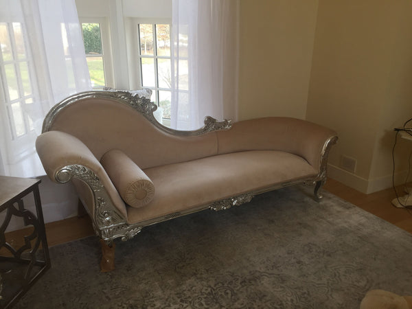 Queen Anne's Revenge Chaise - Cream & Gold- CLIENT PHOTO