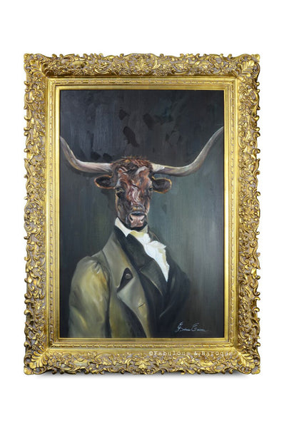 Baroque Portrait Painting - Lawrence the Longhorn