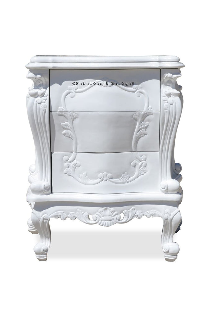 Absolom Roche Side Table - White