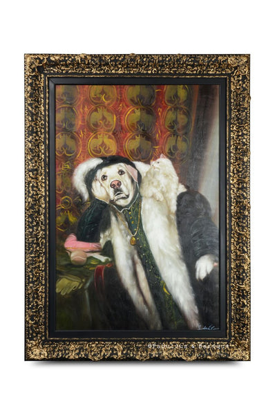 Baroque Portrait Painting - Lycidas the Labrador