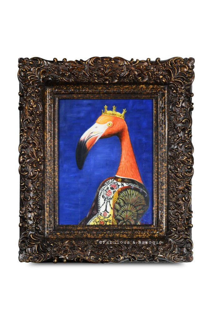 Baroque Portrait Painting - Francis the Flamingo