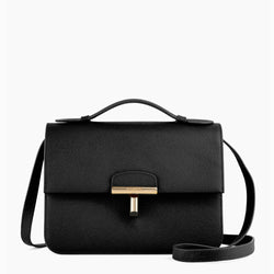 Small Adele peppbled leather handbag - Le Tanneur