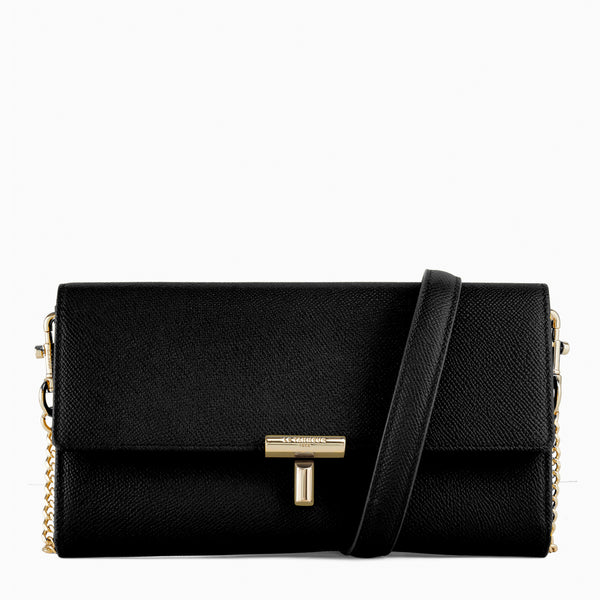 Adele pebbled leather cross-body clutch