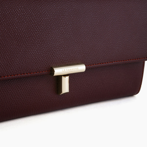 Cross body Adele pebbled leather clutch - Le Tanneur