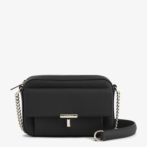 Zipped shoulder strap pocket Adèle pebbled leather  - Le Tanneur