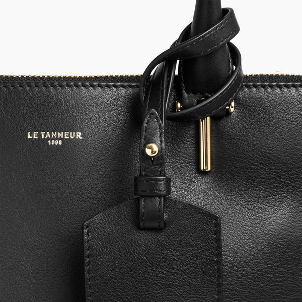 Constance smooth leather large vertical handbag - Le Tanneur