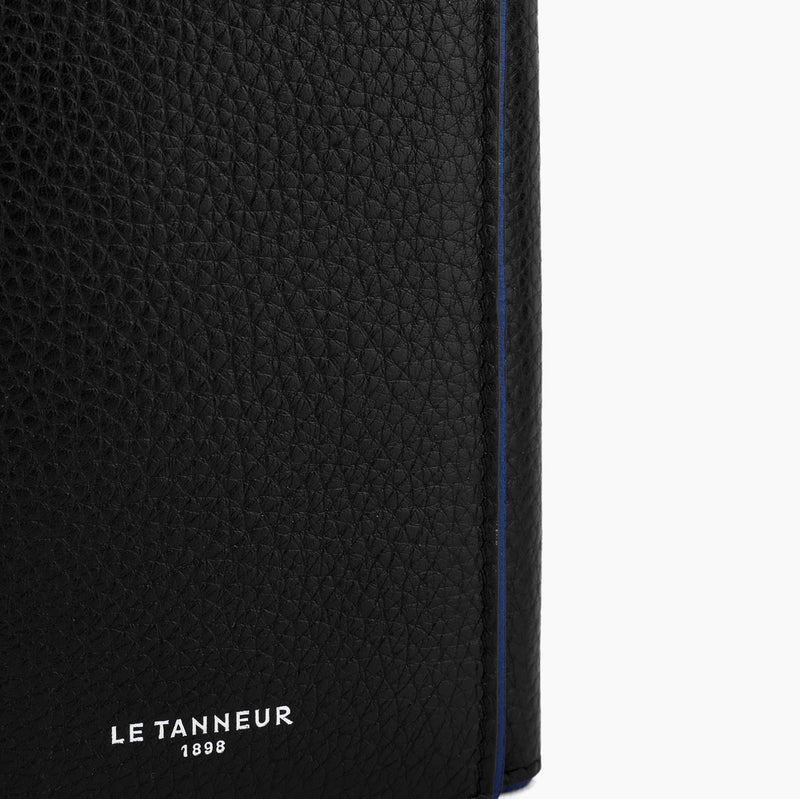 Card holder 3 sections Augustin pebbled leather - Le Tanneur