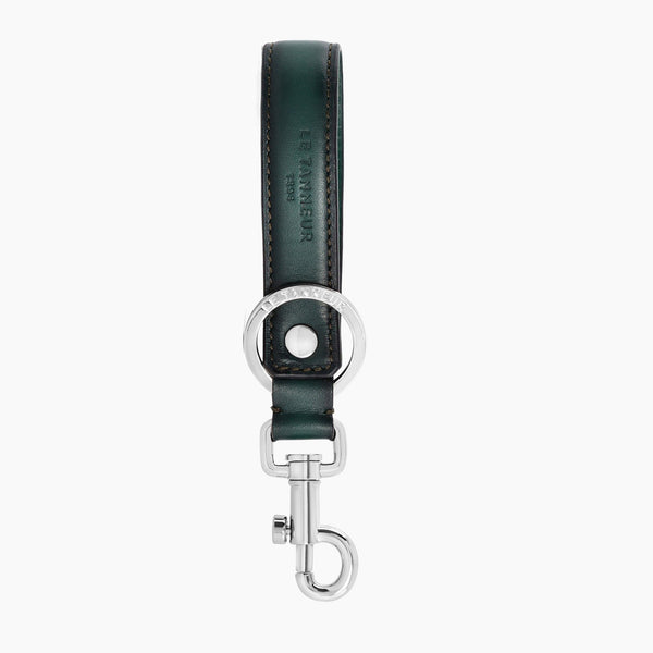 Drawstring smooth leather key ring - Le Tanneur