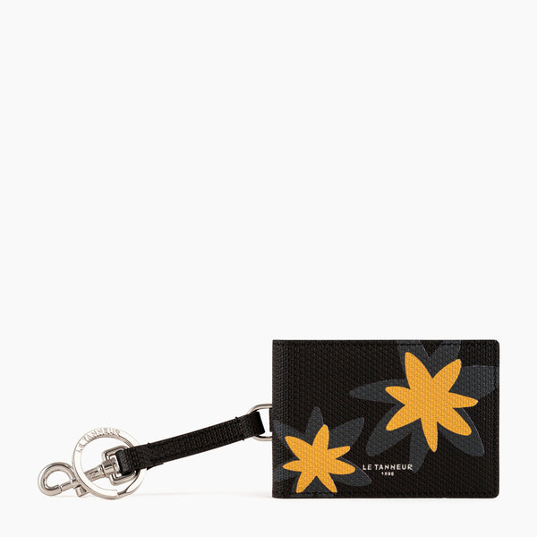 Leather monogrammed key ring - Le Tanneur