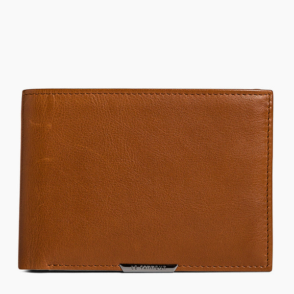 Card holder with leather Baudelaire bill pocket - Le Tanneur