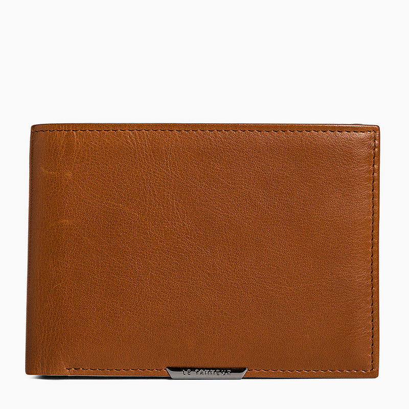 Leather Baudelaire card case with bill pocket - Le Tanneur