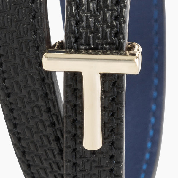 Bracelet with leather T clasp - Le Tanneur