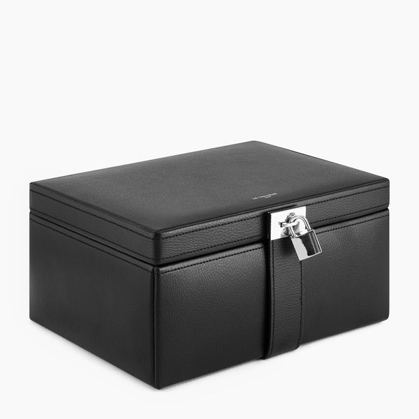 Large leather jewelry box - Le Tanneur